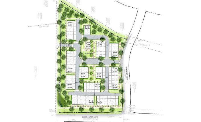 Lock7 Development LLC wants to build 78 townhomes in 12 three-story buildings at the corner of North Estes Drive and Somerset Drive in Chapel Hill. The concept plan is scheduled for a Town Council review in November.