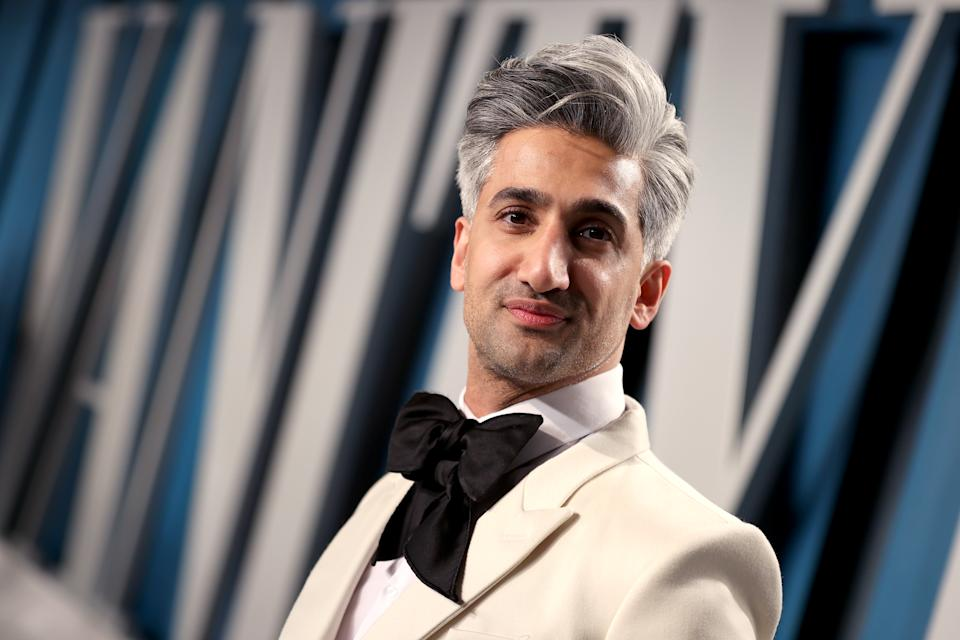 Tan France's coiffured grey quiff is a look. (Getty Images)