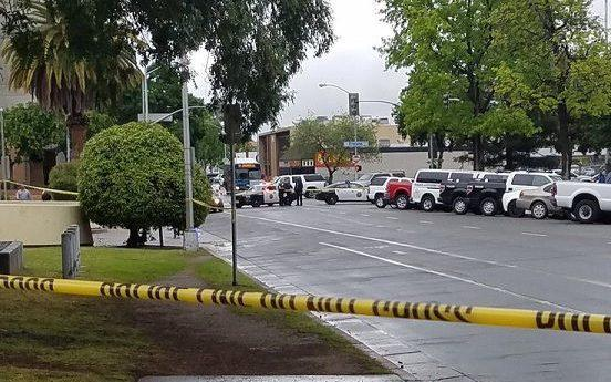 The scene of the shooting in Fresno