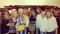 """<p>Fun with #girlslikeus tonight at the screening of #IAmCait @tracelysette @candiscayne @smartassjen @zackarydrucker #MimiMarks #TransIsBeautiful,"""" Laverne Cox captioned a group shot taken at a private pre-viewing of Caitlyn Jenner's """"I Am Cait"""" docu-series. While Jenner dressed down in jeans, Cox wore a crop top and tight skirt.</p>"""