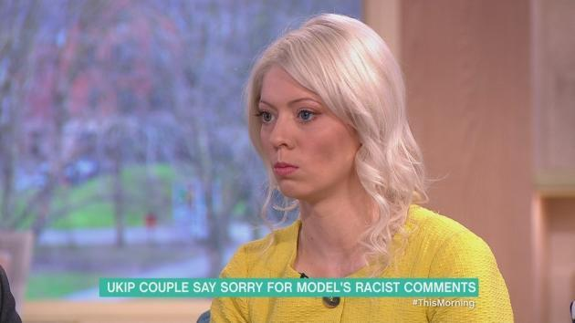 Jo Marney, girlfriend of former UKIP leader Henry Bolton, says she was sorry for causing offense over leaked social media comments she made that were widely interpreted as racist.