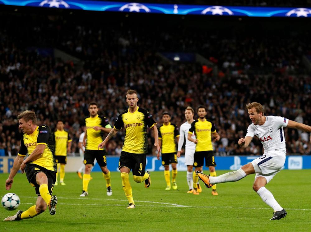 Kane restored Tottenham's lead with a near post finish (Getty)
