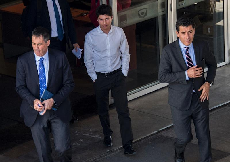Earlier this month, French prosecutors went to Chile to question Nicolas Zepeda, seen here leaving a Santiago court on April 17