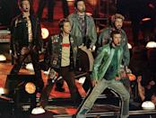 """<p>NSYNC opened the 2001 halftime show in matching distressed denim and leather.</p><p><a class=""""link rapid-noclick-resp"""" href=""""https://www.youtube.com/watch?v=XXiUlnRJqps&ab_channel=JamieBFan"""" rel=""""nofollow noopener"""" target=""""_blank"""" data-ylk=""""slk:WATCH NOW"""">WATCH NOW</a></p>"""
