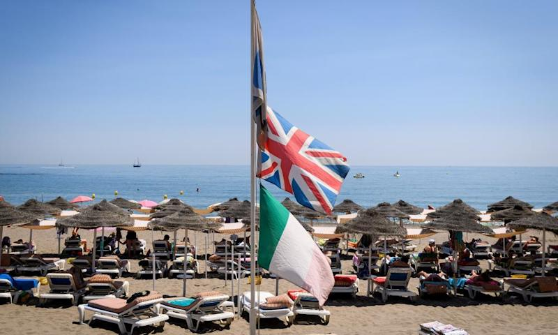 A British flag in Spain. 'The golden age of British retirees heading to the Costas is probably over,' said a migration expert.