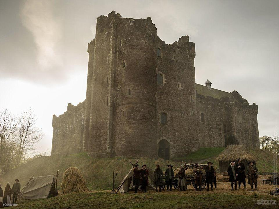 """<p>Doune Castle and Blackness Castle have to be left in <a href=""""https://www.vanityfair.com/hollywood/2016/10/inside-outlanders-hunt-for-claire-fraser"""" rel=""""nofollow noopener"""" target=""""_blank"""" data-ylk=""""slk:pristine condition"""" class=""""link rapid-noclick-resp"""">pristine condition</a> after shooting.</p>"""