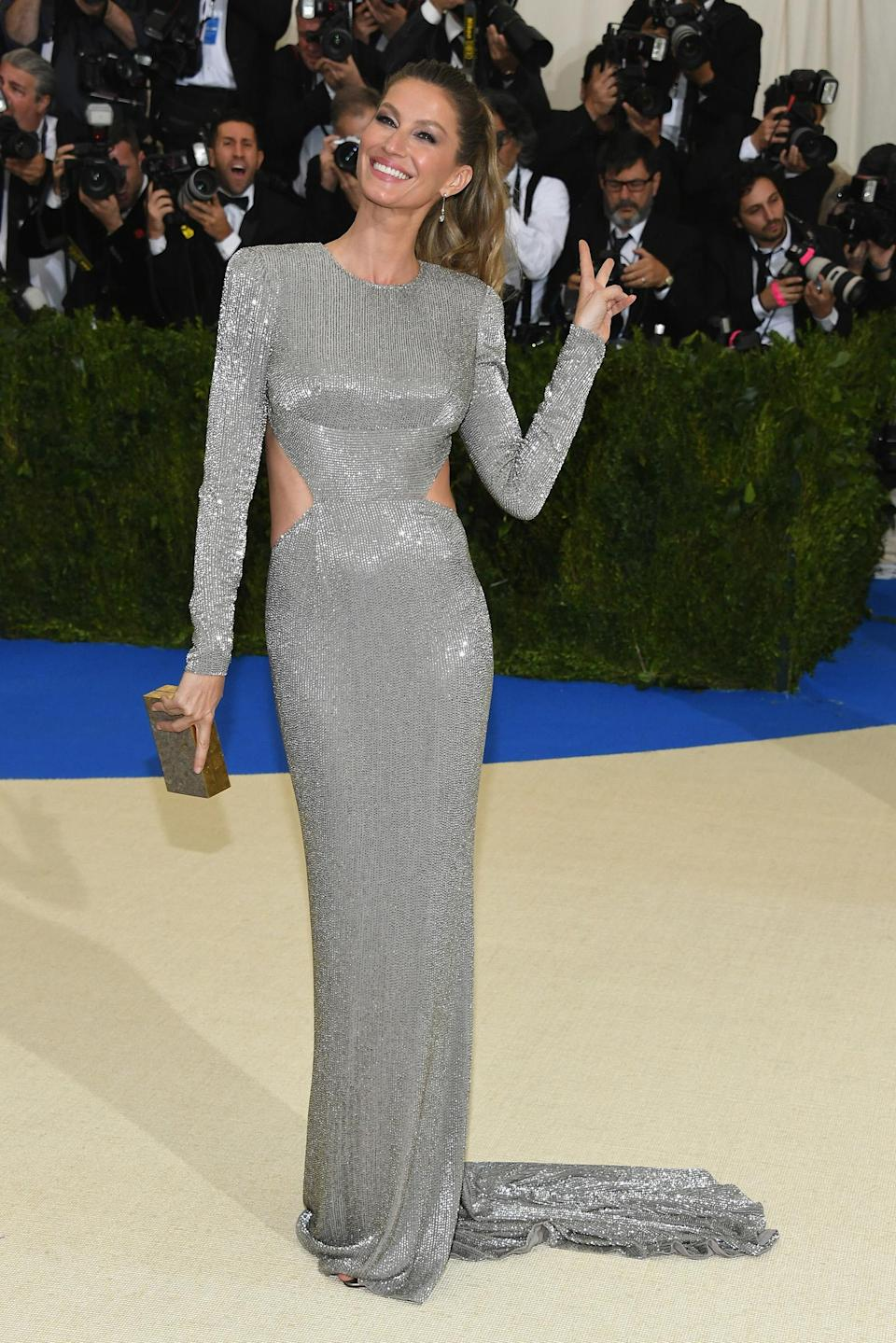 <p>The model can even be spotted at glamorous events, such as this year's Met Gala, getting silly with her poses. (Photo: Getty Images) </p>