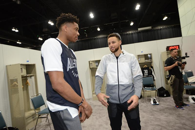 NBA Giannis Antetokounmpo May Draft Stephen Curry With 1st All-Star Pick 1
