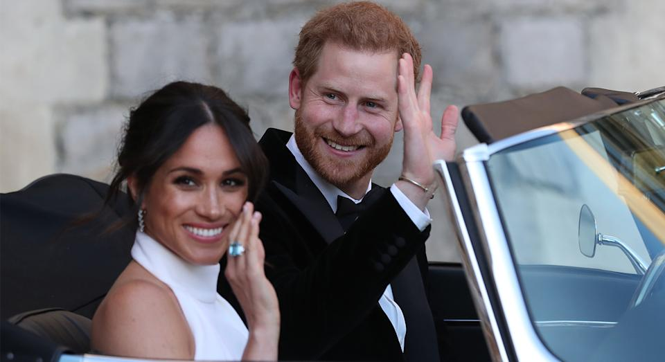 Celebrity hairstylist George Northwood revealed he was the Duke and Duchess of Sussex's former hairdresser with a photo of the couple on his Instagram account back in 2020.  He has now launched a new vegan haircare range. (Getty Images)