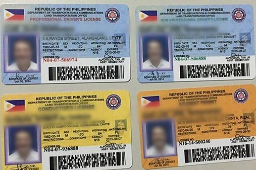 Driver's License in the Philippines - Types of Driver's License