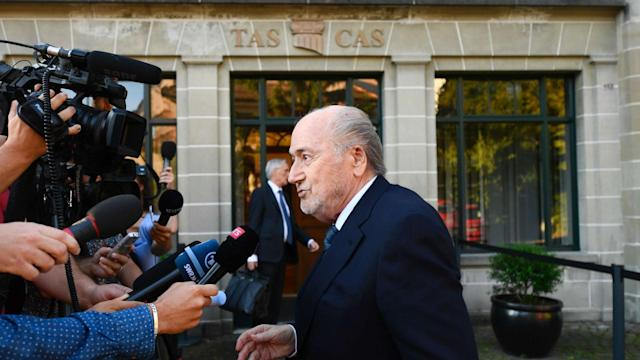 Sepp Blatter has arrived at the Court of Arbitration for his hearing into allegations of corruption.