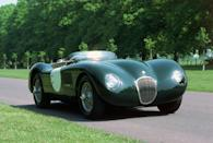 <p>The C-Type was a lightweight, soulful, race-ready sports car. It used the drivetrain from the XK120 retuned for greater power.</p>