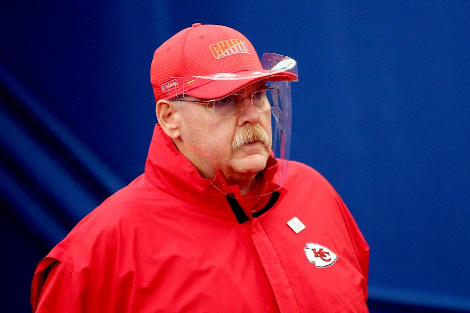 Head coach Andy Reid of the Kansas City Chiefs