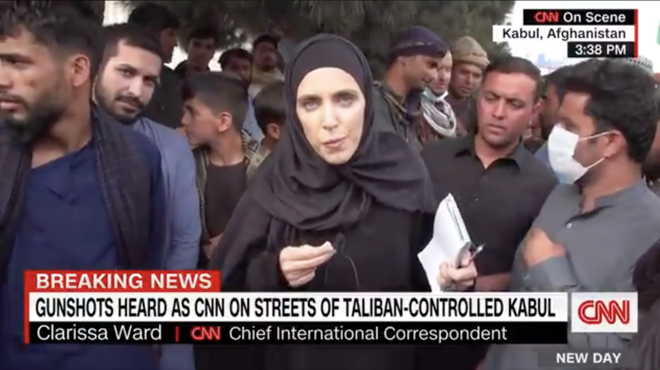 On Twitter video of her recent live cross has already been watched more than a million times. Source: CNN