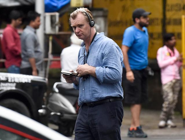 Christopher Nolan spotted shooting for next film 'Tenet' near Taj Hotel, Colaba, on September 17, 2019 in Mumbai, India. (Kunal Patil/Hindustan Times via Getty Images)
