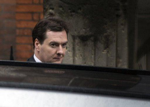 British finance minister George Osborne arrives to give evidence at the Leveson Inquiry into media ethics at the High Court in London. British ex-premier Gordon Brown and Osborne faced a grilling Monday by the press ethics inquiry sparked by the phone-hacking scandal at Rupert Murdoch's News of the World