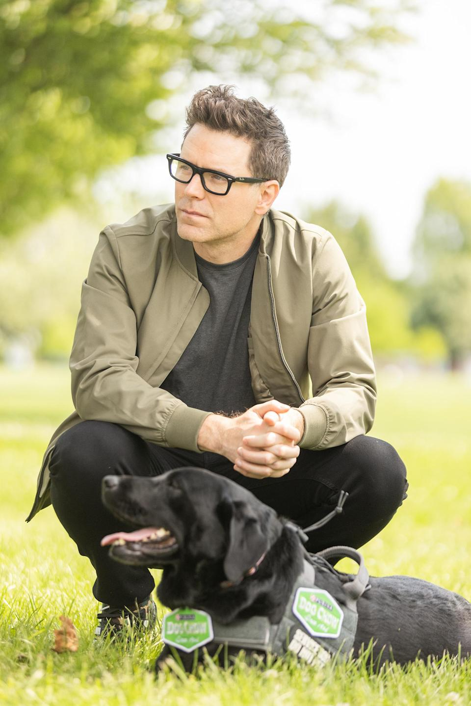 Dog Chow partner and TV / radio personality Bobby Bones participates in the fourth annual Dog Chow Service Dog Salute campaign
