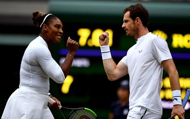 The mixed doubles pairing of Andy Murray and Serena Williams delighted Wimbledon this year - PA