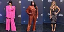 <p>The People's Choice Awards 2020 might be a bit smaller than what we're used to but the fashion game is just as strong. Overnight, a slew of your favourite celebrities walked the red carpet wearing some seriously S.T.U.N.N.I.N.G outfits and, tbh, this exactly the kind of glam we need in our lives right now.</p><p>From Demi Lovato's bedazzled copper sequin set to Jameela Jamil's hot pink power suit, attending A-listers brought the fire in the best way. </p><p>Scroll through to see every incredible celebrity red carpet look from the night.</p>