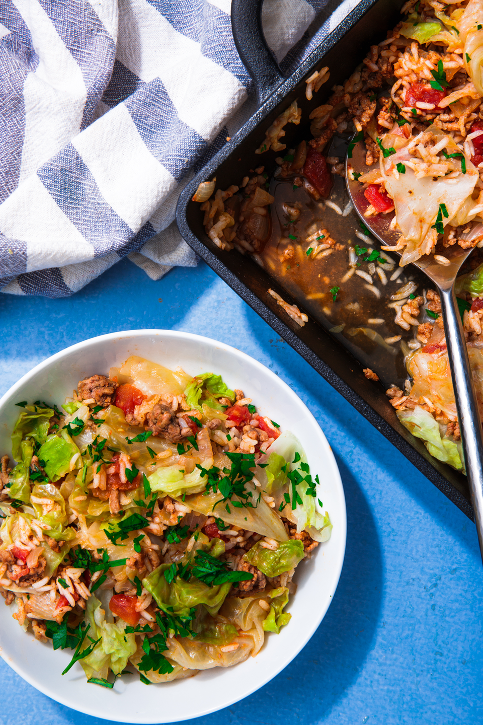 """<p>The best part: You don't even need to cook the rice beforehand!</p><p>Get the recipe from <a href=""""https://www.delish.com/cooking/recipe-ideas/a22804756/unstuffed-cabbage-casserole-recipe/"""" rel=""""nofollow noopener"""" target=""""_blank"""" data-ylk=""""slk:Delish"""" class=""""link rapid-noclick-resp"""">Delish</a>.</p>"""
