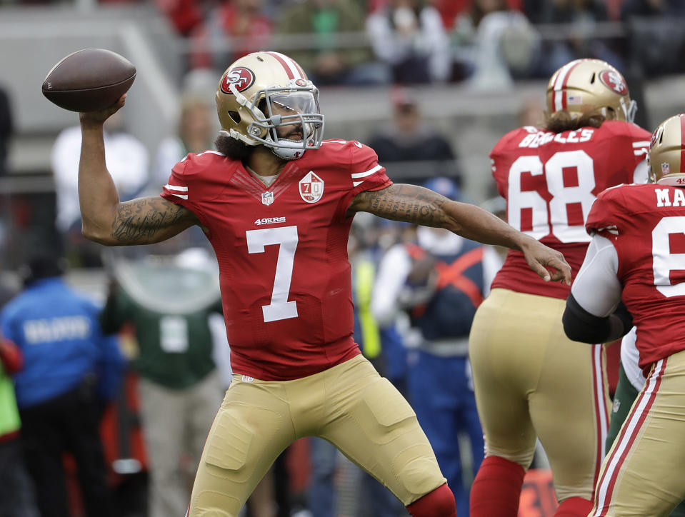 Part of Colin Kaepernick's grievance against the league included deposing John Elway. (AP)
