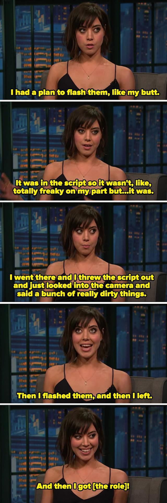 It was hilariously insane when she was explaining how she gave the auditions and got the role in Dirty Grandpa.
