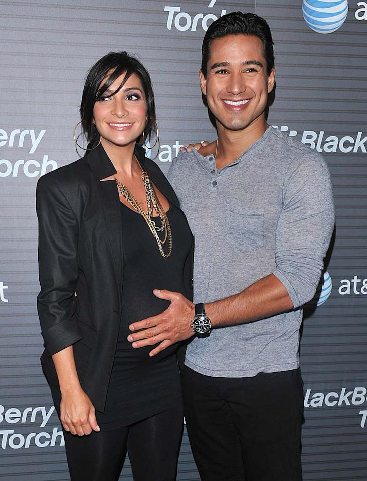 """Extra"" host Mario Lopez and his girlfriend Courtney Mazza welcomed daughter Gia Francesca on September 11. The little girl, who's made quite a few appearances on the ""Extra"" set since her birth, weighed in at 6 pounds, 4 ounces. ""She's awesome,"" Mario recently told UsMagazine.com. ""She's all about sleeping and eating. She has a good life right now. I'm envious."" Alberto E. Rodriguez/<a href=""http://www.gettyimages.com/"" target=""new"">GettyImages.com</a> - August 11, 2010"