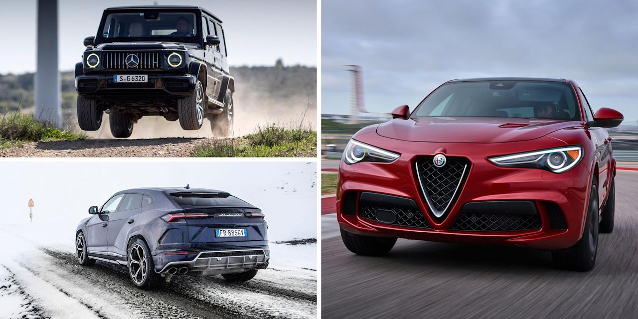 "<p>Today, <a rel=""nofollow"" href=""https://www.caranddriver.com/features/g15377603/luxury-small-compact-suv/"">crossovers and SUVs are everywhere</a>. Vehicles with gobs of horsepower are slightly less so, but still are surprisingly prevalent. So, what about the, ahem, <em>crossover</em> between popular high-riding SUVs and high-horsepower engines? It's relatively easy to find an SUV with around 400 horsepower, so we'e used that number as the baseline for this list of super-SUVs that you can waltz into dealership today and drive home with upwards of 500, 600, and even 700 horsepower. That kind of muscle embarrasses most muscle cars and out-supers a good deal of supercars. Of course, crossovers and SUVs tend to be hefty vehicles, so the extra power doesn't hurt . . .  </p><p>But just which of these super-SUVs is the <em>most </em>potent? Here are the 20 crossovers and sport-utes with the most horsepower currently for sale in the U.S. Scroll through, you might even end up a little surprised at what makes the list. </p><p>(A quick note: We've listed only the most powerful iteration of a given model; for example, several versions of the Bentley Bentayga make our cut, but we've included only the most powerful variant to avoid duplicate entries.)</p>"