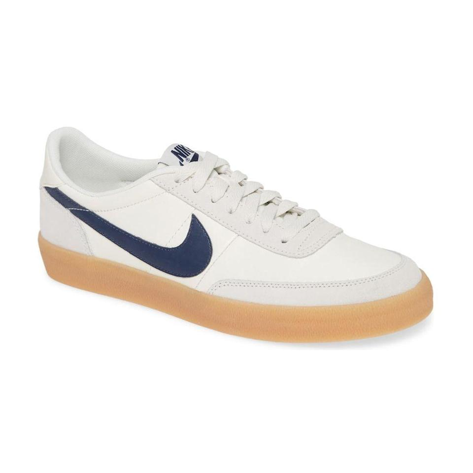 """<p><strong>nike</strong></p><p>nordstrom.com</p><p><strong>$90.00</strong></p><p><a href=""""https://go.redirectingat.com?id=74968X1596630&url=https%3A%2F%2Fwww.nordstrom.com%2Fs%2Fnike-killshot-2-sneaker-men%2F5646434&sref=https%3A%2F%2Fwww.bestproducts.com%2Flifestyle%2Fg2077%2Fbest-christmas-gifts-ideas-for-men%2F"""" rel=""""nofollow noopener"""" target=""""_blank"""" data-ylk=""""slk:Shop Now"""" class=""""link rapid-noclick-resp"""">Shop Now</a></p><p>If your sweetheart is a sneakerhead, these trendy leather Nikes are an impressive score. In fact, the former J.Crew-exclusive kept selling out for years, but <a href=""""https://www.forbes.com/sites/timnewcomb/2020/06/26/nikes-killshot-sneaker-lives-on-even-if-jcrew-doesnt/#31d554a12493"""" rel=""""nofollow noopener"""" target=""""_blank"""" data-ylk=""""slk:the end of their partnership in 2019"""" class=""""link rapid-noclick-resp"""">the end of their partnership in 2019</a> has led to the Killshot 2 leading mass market sneaker sales.</p><p>He'll love its seamless fusion of modern and vintage detailing, and you'll love its still-affordable under-$100 price tag. </p>"""
