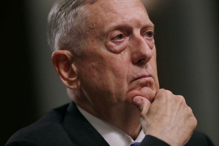 Defense Secretary James Mattis testifies before the Senate Armed Services Committee.
