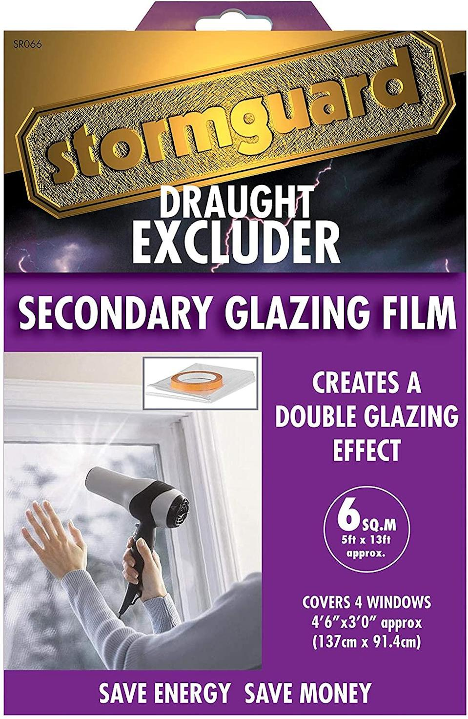 "<h3>Double Glazing Film</h3><br>If you live in a <a href=""https://www.refinery29.com/en-gb/london-rental-hotspots-2020"" rel=""nofollow noopener"" target=""_blank"" data-ylk=""slk:rented space"" class=""link rapid-noclick-resp"">rented space</a>, you likely have little control over the big things, including the glazing on your windows. But just because you currently have draughty single-glazed panes doesn't mean you have to continue that way throughout winter. One of the easiest solutions to thin windows is adding a secondary glazing film which works to insulate the glass. Applied to the windows using heat (a <a href=""https://www.refinery29.com/en-gb/best-hairdryer-all-hair-types"" rel=""nofollow noopener"" target=""_blank"" data-ylk=""slk:hairdryer"" class=""link rapid-noclick-resp"">hairdryer </a>will work fine), the sticky film applies an extra layer of protection from the elements, leaving your space feeling instantly warmer.<br><br><strong>Stormguard</strong> Secondary Glazing Window Insulation Film, $, available at <a href=""https://www.amazon.co.uk/Stormguard-11SR0666SQM-Secondary-Glazing-Insulation/dp/B00AL8L20I/ref=asc_df_B00AL8L20I/?"" rel=""nofollow noopener"" target=""_blank"" data-ylk=""slk:Amazon"" class=""link rapid-noclick-resp"">Amazon</a>"