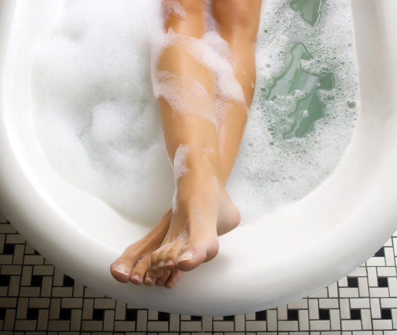 Turns out that taking a hot bath has this side effect