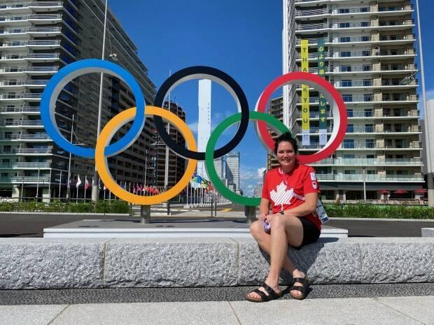 Janice Drover, a chiropractor from St. John's, spent part of her summer in Tokyo as part of Canada's medical team at the Olympic Games.  (Submitted by Janice Drover - image credit)