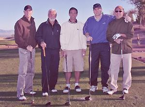 Left to right: Tim Brown, his father, Peter, and brothers Richard, Andy and Peter