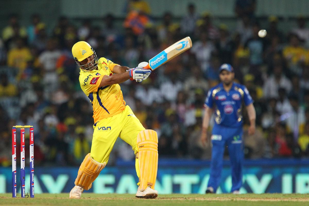 MS Dhoni during match 5 of of the Pepsi Indian Premier League between The Chennai Superkings and the Mumbai Indians held at the MA Chidambaram Stadium in Chennai on the 6th April 2013.