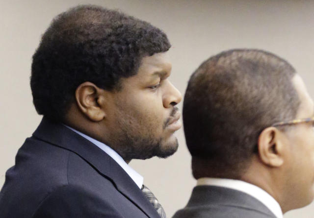 Josh Brent, shown here at his 2014 criminal trial, was back in a Dallas County, Texas, court this week for a civil trial in the death of his friend and teammate, Jerry Brown. A jury Brent and the nightclub Beamers are equally responsible in Brown's death and must pay a $25 million settlement to Brown's estate. (AP)