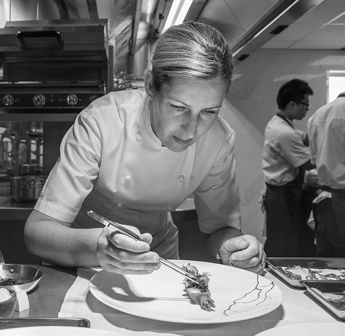Clare Smyth is the first and only female chef to run a restaurant with three Michelin-stars in the UK. [Photo: Core]