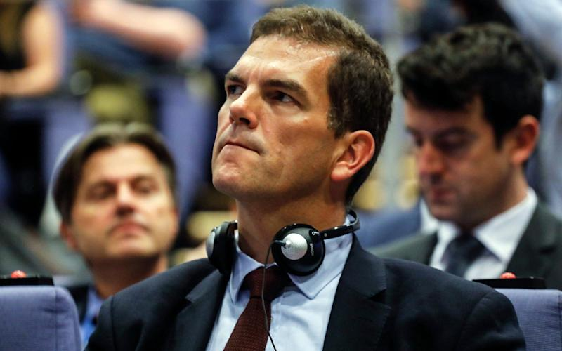 Olly Robbins (pictured) has been accused of blocking Stewart Jackson's reappoint to DExEU - Bloomberg