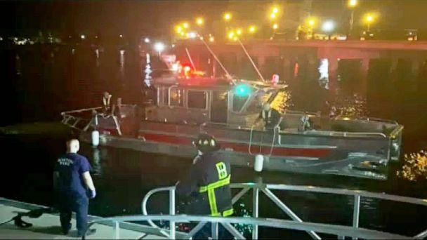 PHOTO: 7 people rescued, 1 still missing after boating accident in Boston Harbor overnight, July 17, 2021.  (ABC News)