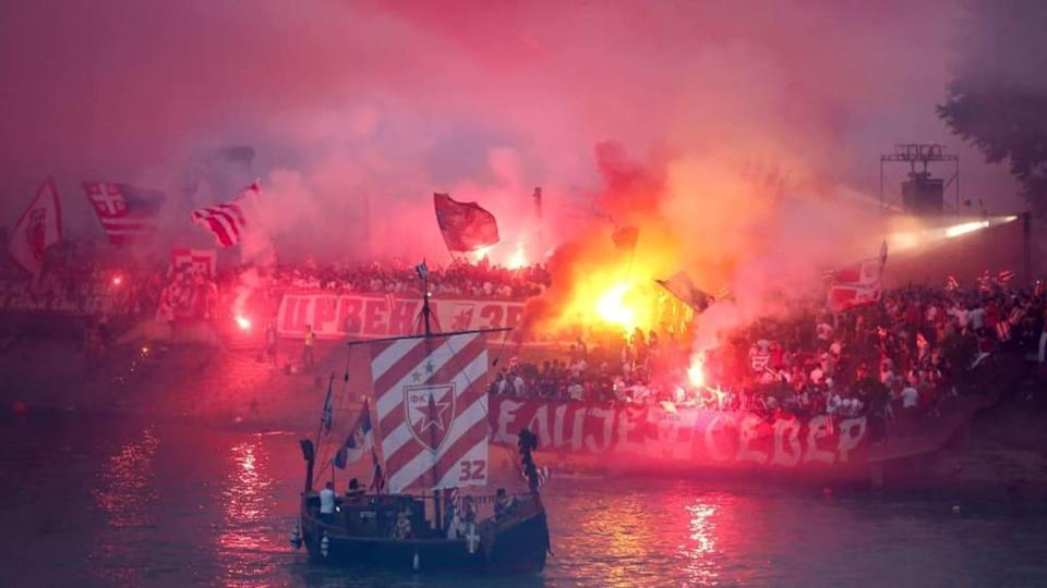O Red Star Belgrade é intenso. | OLIVER BUNIC/Getty Images