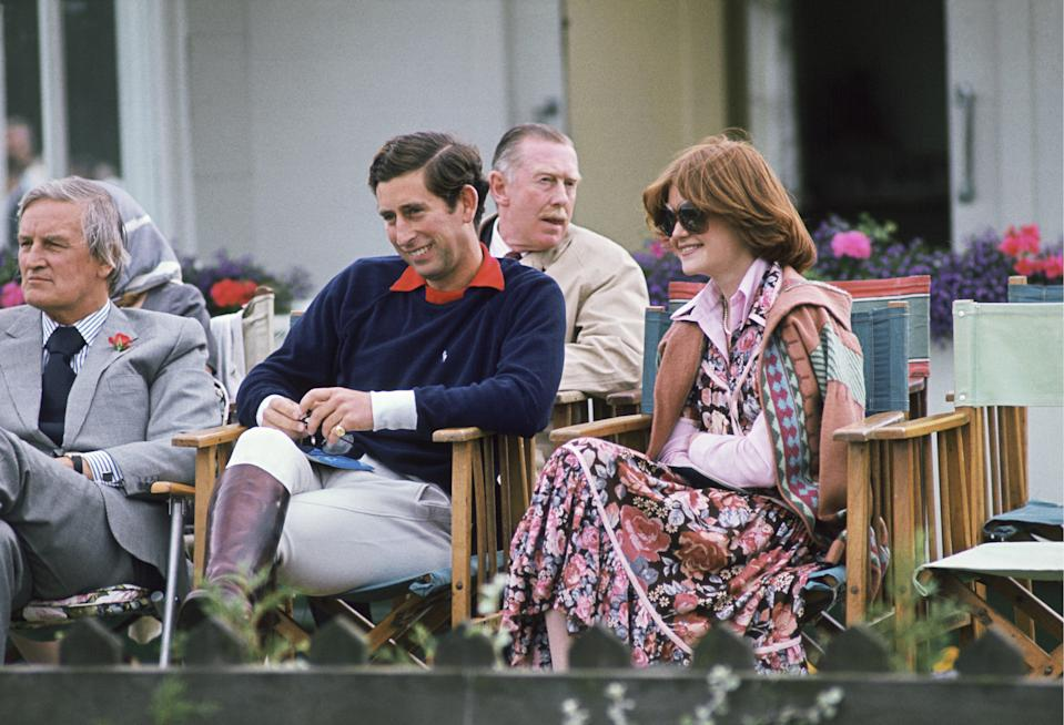 WINDSOR, UNITED KINGDOM - JULY 01:  Prince Charles Sitting Next To Lady Sarah Spencer (diana Sister) At A Polo Match (exact Date Not Certain)  (Photo by Tim Graham Photo Library via Getty Images)