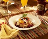 """<p><a href=""""https://www.tripadvisor.com/Hotel_Review-g44481-d638687-Reviews-Alpenhorn_Gasthaus-Hermann_Missouri.html"""" rel=""""nofollow noopener"""" target=""""_blank"""" data-ylk=""""slk:Alpenhorn Gasthaus"""" class=""""link rapid-noclick-resp"""">Alpenhorn Gasthaus</a> in Hermann</p><p>""""Alpenhorn makes it their goal for you to escape reality upon first stepping in. The breakfast is to die for. We had mimosas, apple cinnamon bread pudding, and an egg and bacon frittata. Oh, and coffee was always at the ready. That's a plus."""" - Yelp user <a href=""""https://www.yelp.com/user_details?userid=YCPoG_m19hLRy3dN4w3jLQ"""" rel=""""nofollow noopener"""" target=""""_blank"""" data-ylk=""""slk:Tony M."""" class=""""link rapid-noclick-resp"""">Tony M.</a></p>"""