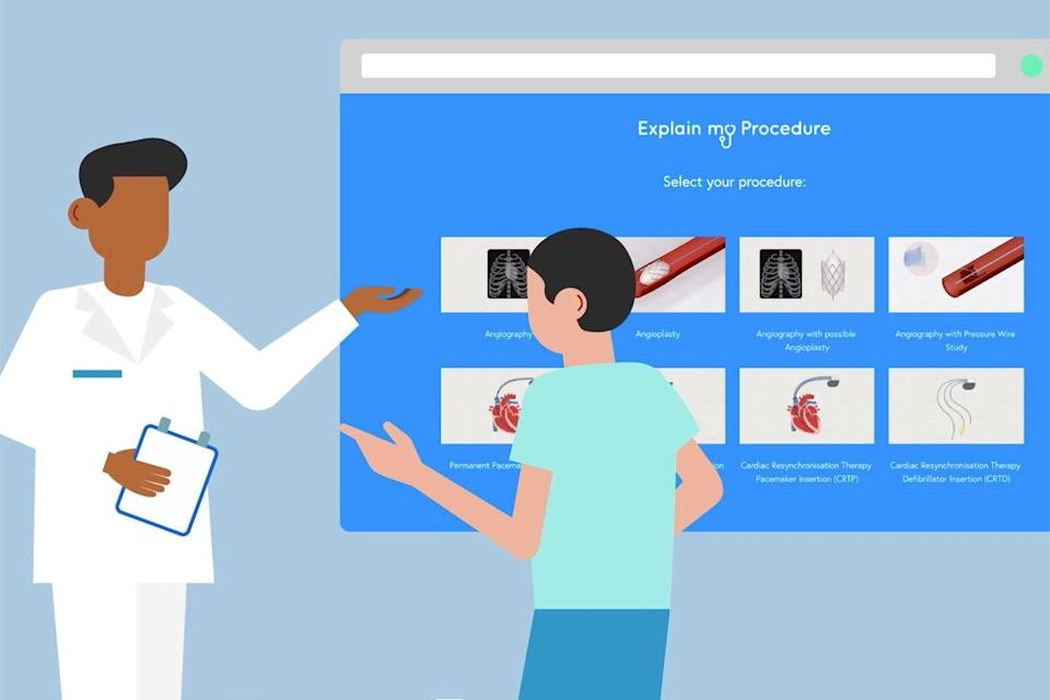 """<p>Professor David Wald created the animated films to help people understand the critical care a patient is likely to receive — at a time when families have been left """"stranded and detached"""" by the restrictions on hospital visiting</p> (explainmyprocedure.com)"""