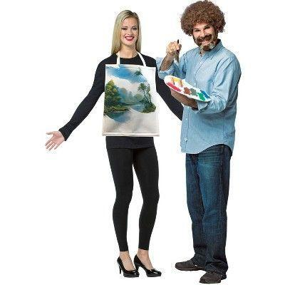 """<p><strong>Rasta Imposta</strong></p><p>target.com</p><p><strong>$40.88</strong></p><p><a href=""""https://www.target.com/p/adult-bob-ross-with-painting-kit-halloween-costume-one-size/-/A-76627659"""" rel=""""nofollow noopener"""" target=""""_blank"""" data-ylk=""""slk:Shop Now"""" class=""""link rapid-noclick-resp"""">Shop Now</a></p><p>A masterpiece! </p>"""