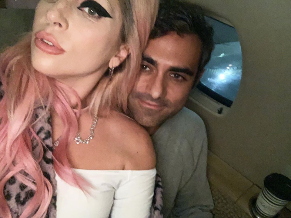 """<p>""""In this image Michael is behind Lady Gaga, she is clearly in the leadership role in this image,"""" says Donaldson. But it doesn't present a problem for the balance of their relationship. Polanksy's expression tells Donaldson he's happy supporting her, and given all that head touching from earlier, it's safe to say she's there for him, too. </p>"""