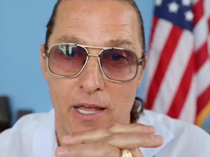 Hollywood star has hinted that he may run for the state's highest office in 2022 (Twitter/@McConaughey)