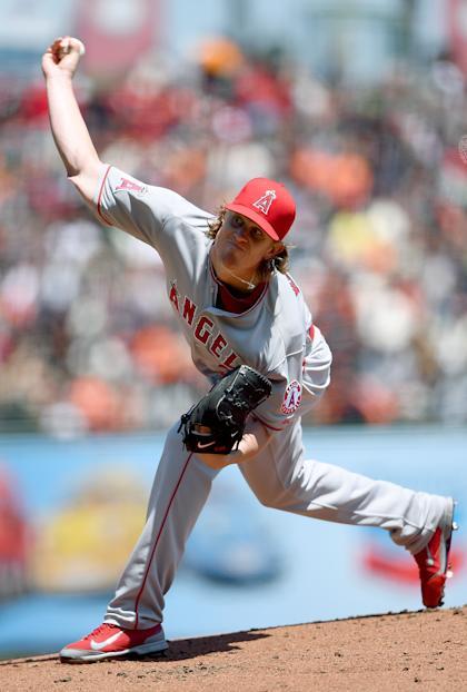 Jered Weaver's average fastball has been clocked at 83.1 mph. (Getty Images)