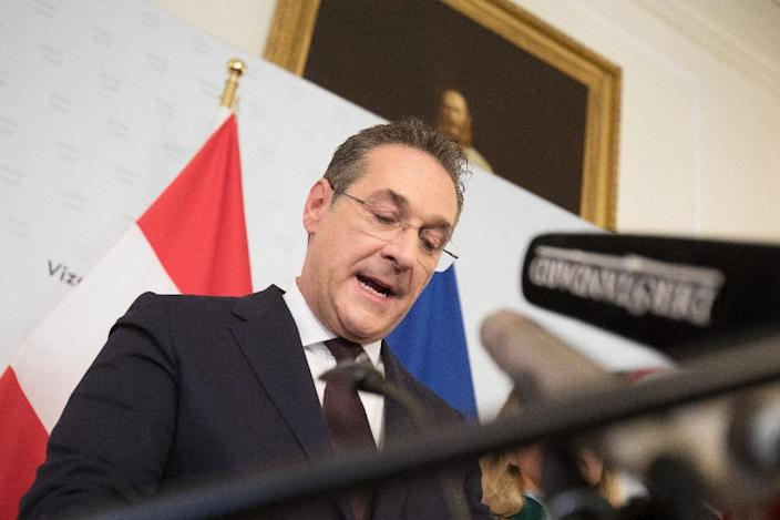 Heinz-Christian Strache, who was forced to resign as Austria's Vice-Chancellor and chairman of the Freedom Party FPOe, has won the right to take a seat in the European Parliament (AFP Photo/ALEX HALADA)