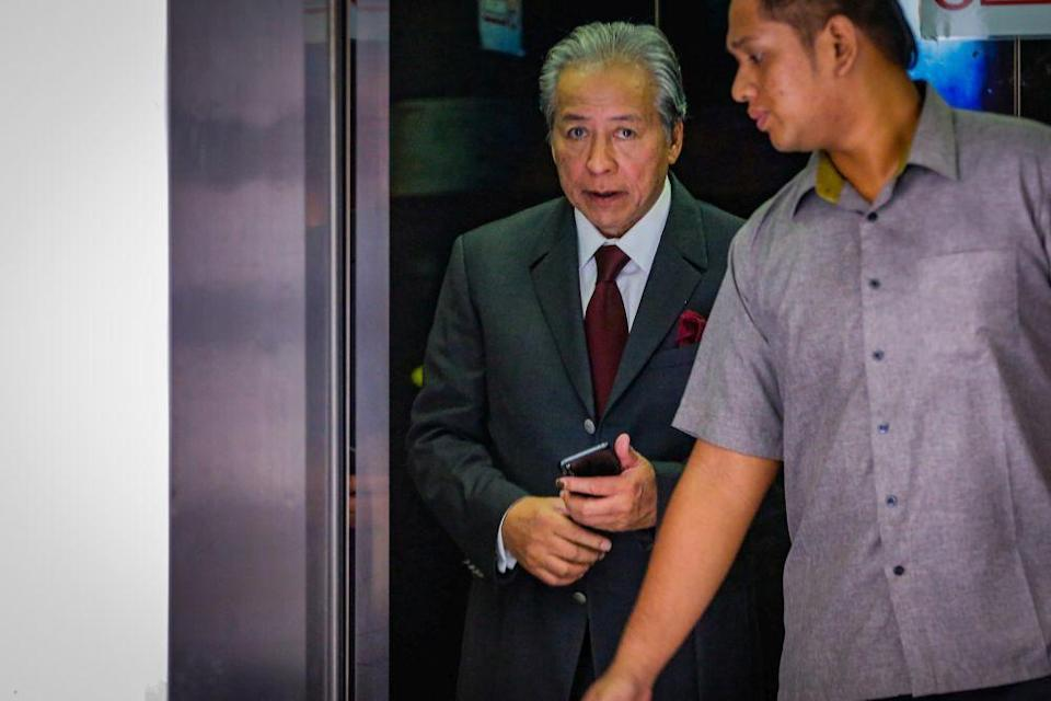 Datuk Seri Anifah Aman said Tan Sri Musa Aman had done a good job governing the state for 15 years but his time is over, and it is now pertinent to let younger leaders run the state. ― Picture by Hari Anggara