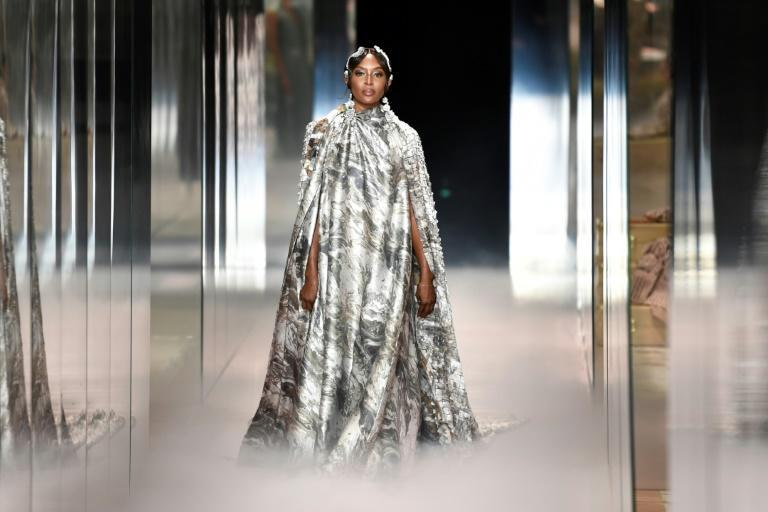 Naomi Campbell headlined in the Spring/Summer 2021 collection channelling the early 20th century's flowing capes and high collars